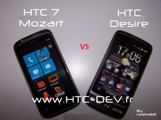 HTC Desire (Android) vs HTC 7 Mozart (WP7)