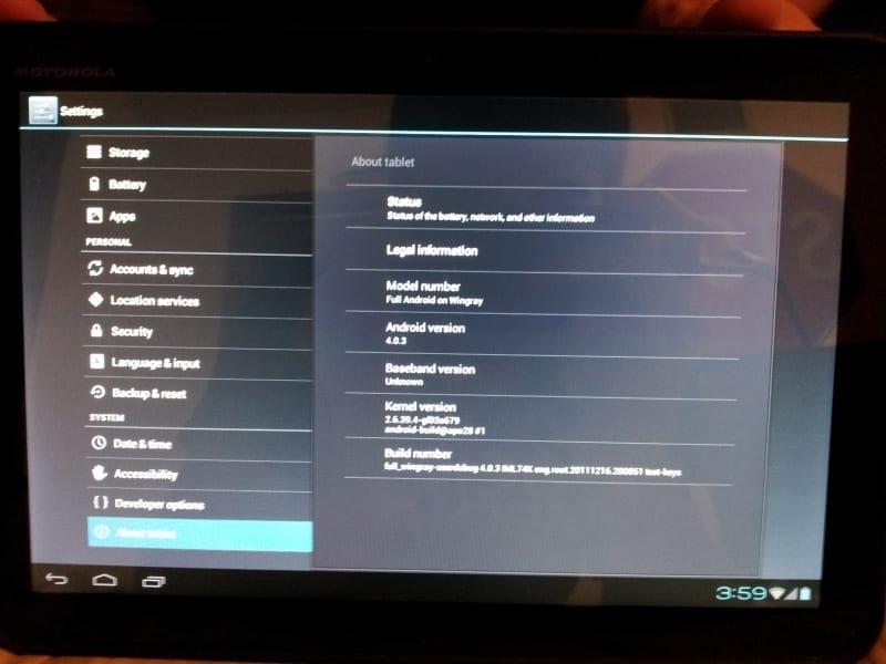 Android 4.0.3 доступна на Motorola Xoom (неофициально). Шаблоны сайтов: он
