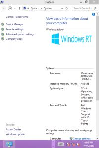 Windows RT HTCHD2.10