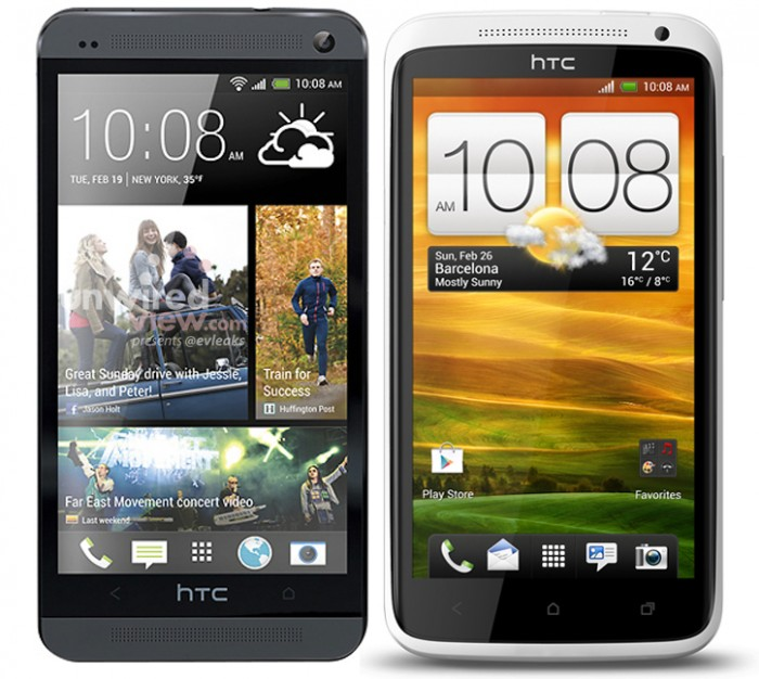HTC OneM7 vs One X